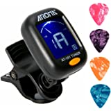 Clip On Guitar Tuner For All Instruments Ukulele Guitar Bass Mandolin Violin Banjo Large Clear LCD Display For Guitar Tuner C