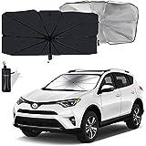 Moyidea Windshield Sun Shade Foldable Umbrella Reflective Sunshade for Car Front Window Blocks UV Rays Heat Keep Vehicle Cool