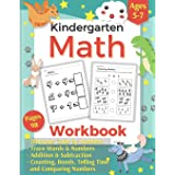 Addition and Subtraction Kindergarten Math Workbook: Activity Book of Learning & Tracing The Words and Number for Preschool K