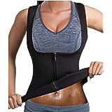 Junlan Women Waist Trainer Sauna Sweat Vest Neoprene Workout Tank Top Weight Loss Body Shaper Slim Shirt