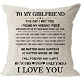 "Always kiss me Good Night red Heart Cotton Linen Square Throw Waist Pillow Case Decorative Cushion Cover Pillowcase Sofa 12""x"