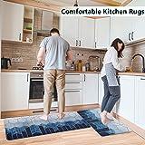 Anti Fatigue Mat ,Kitchen Mats for Floor,Cushioned Anti-Fatigue Kitchen Mat,2 Piece Waterproof Non-Slip Comfort Memory Foam K