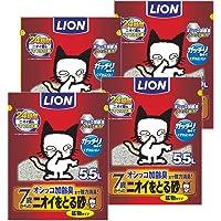 【Amazon.co.jp限定】ライオン (LION) ニオイをとる砂 猫砂 7歳以上用鉱物タイプ 5.5Lx4袋 (ケ…