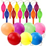 RUBFAC 80 Punch Balloons, Neon Punching Balloons with Rubber Band Handles, 18 Inches, Punch Balls, for Gifts, Children's Game