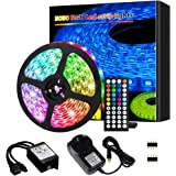 Led Lights, Led Strip Lights,5M 150 LEDs 5050 RGB Rope Lights, IP20 Non Waterproof Color Changing with 20 Colors 8 Light,with