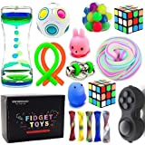Sensory Fidget Toys Bundle-DNA Stress Relief Balls with Fidget Hand Toys for Anxiety Kids & Adults-Calming Toys for ADHD Auti