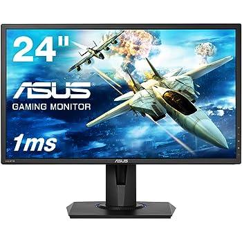 ASUS ゲーミングモニター VG245H  24インチ フルHD/応答速度1ms/ HDMI 2ポート/ピボット/昇降/フリッカーフリー/ブルーライト軽減/スピーカー付