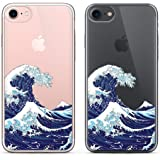 uCOLOR Japanese Wave Case for iPhone 6S Clear Case,iPhone 6 Transparent Clear Case for iPhone 8,iPhone 7 Hybrid TPU Bumple +