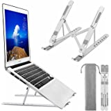 Laptop Stand, BEHEY Adjustable Metal Aluminum alloy Holder with Silicone protection, Foldable Computer Riser Compatible with