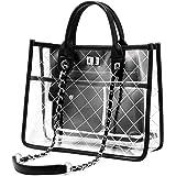 Clear Bags For Women Purse Tote Messenger Crossbody Shoulder Transparent Large