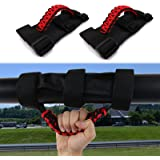 buyinhouse 2Pcs Roll Bar Grab Handles Grip Handle for Jeep Wrangler YJ TJ JK JK JL JLU Sports Sahara Freedom Rubicon X & Unli