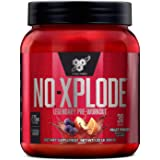BSN N.O.-XPLODE Pre-Workout Supplement with Creatine, Beta-Alanine, and Energy, Flavor: Fruit Punch, 30 Servings