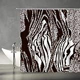 AMFD Zebra Shower Curtain Black and White African Wild Animal Zebra Skin Print Stripes Abstract Creative Modern Art Print Hom