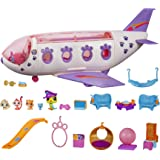 Littlest Pet Shop Pet Jet Playset Toy, Includes 4 Pets, Adult Assembly Required (No Tools Needed), Ages 4 and Up (Amazon Excl