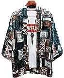 [ディーハウ]カーディガン メンズ 夏服 和式 おしゃれ 7分袖 和風 羽織 開襟 シャツ 大きいサイズ カジュアル ゆ…