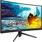 """Philips PHI-242M7 Full HD Curved LCD Monitor, 23.6"""", Black"""