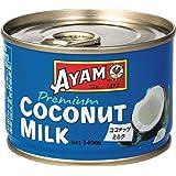 AYAM(アヤム) ココナッツミルク プレミアム 140ml (添加物不使用 | 中鎖脂肪酸 15.9% | ハラル認証取得)
