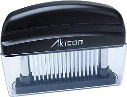 Akicon(アキコン)食品級ステンレス製 ミートテンダライザー 肉たたき 肉筋切り器 お肉が柔らかくなる ステーキ料理用 48本刃