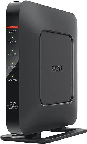 BUFFALO WiFi 無線LAN ルーター WSR-2533DHPL 11ac ac2600 1733+800Mbps デュアルバンド 日本メーカー 4LDK 3階建向け 【iPhone8/iPhoneX/iPhoneXS/Amazon Echo メーカー動作確認済み】