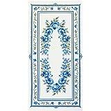 オリムパス製絲 クロスステッチ 刺しゅうキット 美しい花たち ブルーローズ オフホワイト 1197
