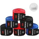 PROIRON ボクシング バンテージ キックボクシング バンテージ 練習 洗濯ネット付き 4.5m 2.5m マジックテープ式 伸縮性 2サイズ3色選択可能