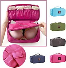 【ノーブランド 品】下着収納バッグ 化粧品袋 ランジェリーケース トラベルポーチ  旅行  全5色