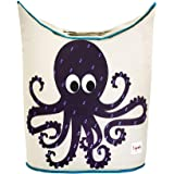 3 Sprouts Laundry Hamper - Octopus, Purple