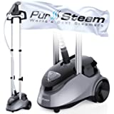 PurSteam Garment Steamer Professional Heavy Duty Industry Leading 2.5 Liter (85 fl.oz.) Water Tank, 60+min of Continuous Stea