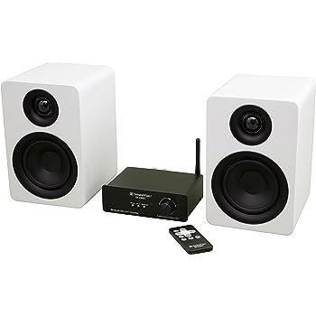 値下げしました!コンフォートオーディオセット(30W×2 Bluetoothアンプ+30W白ピアノフィニッシュスピーカー+スピーカーケーブルセット) (白)