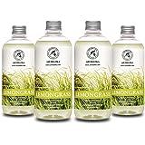 Lemongrass Diffuser Refill 68 oz (4x17oz) - Fresh & Long Lasting Fragrance - Refill Bottle with Natural Essential Lemongrass