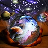Kids Night Light Projector, 360°Rotating Planet Night Lighting Lamps Starry Galaxy Projector for Baby Bedrooms (Basic)