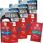 【Amazon.co.jp限定】 PRO TEC(プロテク) (医薬部外品) 頭皮ストレッチ シャンプー 詰め替え230g×3個+デオドラントソープ1回分おまけ付