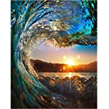 Paint by Numbers-DIY Digital Canvas Oil Painting Adults Kids Paint by Number Kits Home Decorations-Surfing 16 * 20 inch