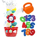 STEAM Life Flower Bath Toys for Toddlers Bathtub Toys for Toddlers Babies Kids 2 3 4 Years with Bath Tub Toys Watering Can an