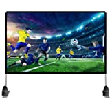 Abdtech 100 inch Projector Screen with Stand,Portable Wrinkle Free Outdoor Movie Screens 4K HD Rear Front Projections Movies