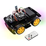 Freenove 4WD Car Kit (Compatible with Arduino IDE), Line Tracking, Obstacle Avoidance, Ultrasonic Sensor, Bluetooth IR Wirele