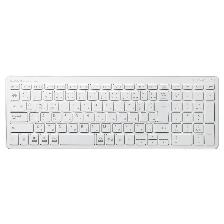 エレコム Bluetoothコンパクトキーボード/パンタグラフ式/薄型/マルチOS対応/ホワイト TK-FBP101WH 1個