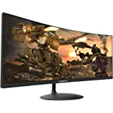 Sceptre 34-inch Curved UltraWide 21: 9 Creative LED Monitor 2560x1080 Frameless HDMI DisplayPort Up to 100Hz, Machine Black 2