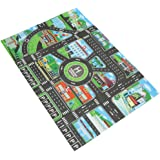 MagiDeal City Traffic Road Carpet Playmat Rug for Cars & Train Game Toys Baby Children Educational Play Mat for Bedroom Play