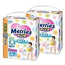 花王 Merries 纸尿裤 学步裤L(9~14kg) 瞬爽透气 112片 (56片×2)