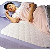 """Priva Ultra Waterproof Sheet and Mattress Pad Protector 34"""" x76"""", 9 Cups Absorbency, Guaranteed 300 Machine Washes"""