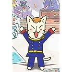 ねこねこ日本史 iPhone(640×960)壁紙 「長崎出島は、いつでも大騒ぎ!」
