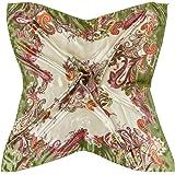 """X&F Women's Retro Prints Summer Stain Neckerchief Square Scarf 35"""" * 35"""""""
