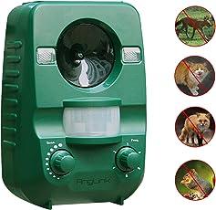 AngLink 猫よけ 超音波ソーラー式 動物撃退器 IP44防水防塵 感知エリア85㎡ 野良猫 コウモリ 撃退 超音波とLED強力フラッシュライトで野良猫 コウモリ 撃退