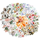 Molshine 320pcs Decorative Stickers-Forest Animal Plant Flowers Series Decals for DIY,Personalize,Bullet Diary Decoration,Lap