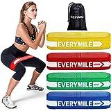 EveryMile エクササイズバンド フィットネスバンド トレーニングチューブ ループバンド 天然ラテックス製 ダイエット ヨガ リハビリ ヒップアップ レジスタンスバンド 4レベル負荷セット