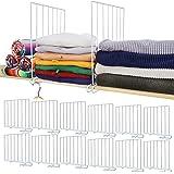 Mebbay 12 Pack Closet Wire Shelf Dividers Vertical Metal Organizer Separators for Wood Shelf Wardrobe Cabinets Kitchen Office