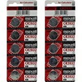 Maxell CR2032 2032 Button Coin Cell Battery - 10 PACK