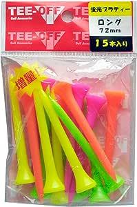 LEZAX(レザックス) ゴルフ ティー TEE-OFF 蛍光プラスティックティ(アイアン) 72mm/15本 TOPL-2128