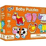 """Galt 1003892 Baby Puzzles- Farm- 2pcs, 5""""x6"""""""